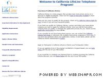 californialifeline.com - Overview of California LifeLine